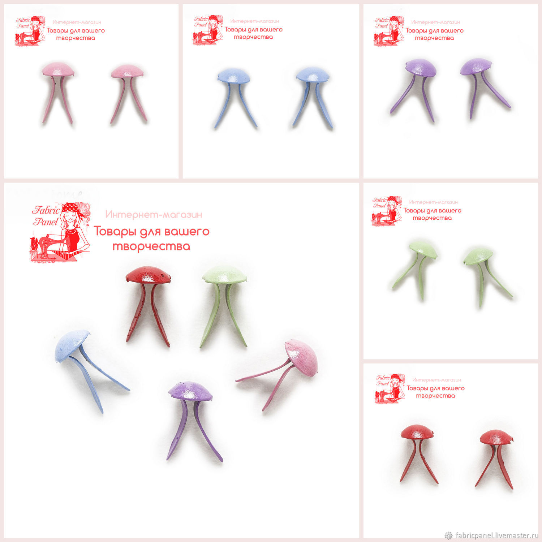 Брадс 5х9 мм (цветные), Элементы для скрапбукинга, Зеленоград,  Фото №1