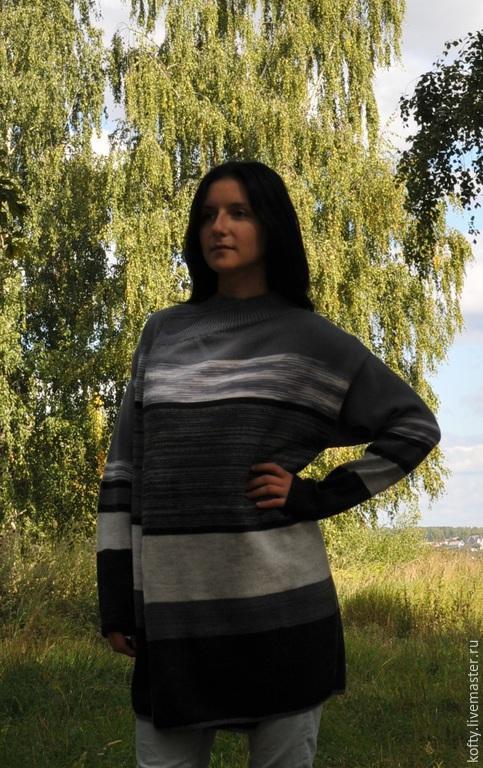 """Кофты и свитера ручной работы. Ярмарка Мастеров - ручная работа. Купить Кардиган """"Серый микс"""". Handmade. Серый, кардиган женский"""