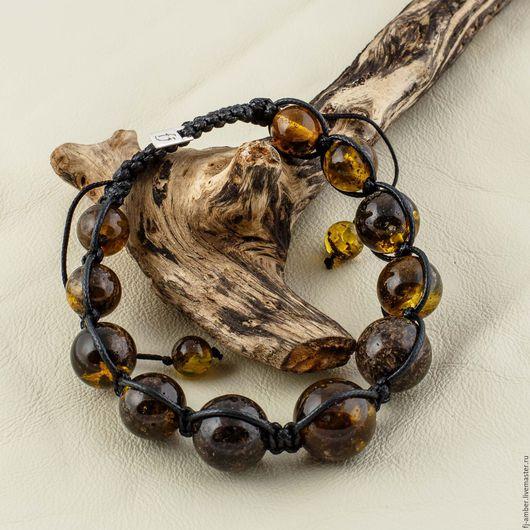 Браслеты ручной работы. Ярмарка Мастеров - ручная работа. Купить Браслет Шамбала №017115 из натурального янтаря. Handmade. Комбинированный