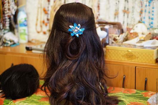 Заколки ручной работы. Ярмарка Мастеров - ручная работа. Купить Заколка для волос, 3 вида. Handmade. Разноцветный, цветок брошь