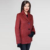 Одежда handmade. Livemaster - original item Short coat jacket brand design from English mohair. Handmade.