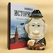 Сувениры и подарки handmade. Livemaster - original item Bottles: History of Russia - Vladimir Putin. Handmade.