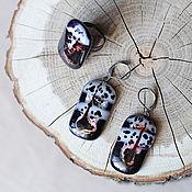 """Украшения ручной работы. Ярмарка Мастеров - ручная работа Серьги и кольцо """"Мурано"""". Handmade."""