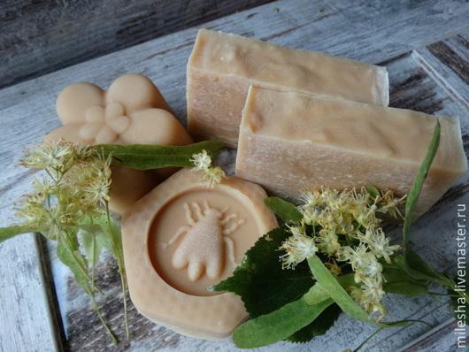 """Мыло ручной работы. Ярмарка Мастеров - ручная работа. Купить Мыло с нуля с медом """"Цветущая Липа"""". Handmade. мыло с нуля"""