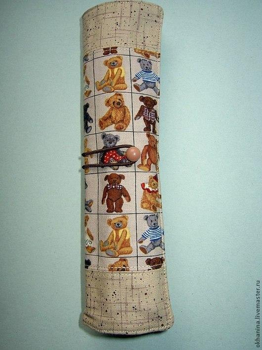 """Пеналы ручной работы. Ярмарка Мастеров - ручная работа. Купить Пенал """" Мишки-3"""" для 12 карандашей. Handmade."""