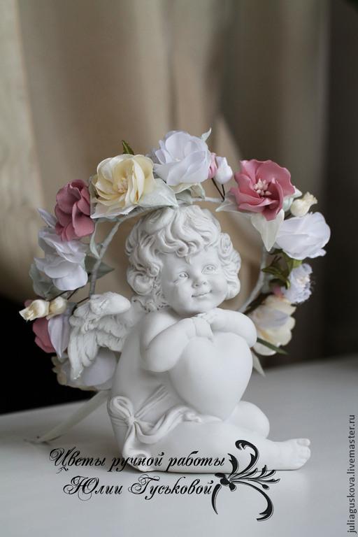 Диадемы, обручи ручной работы. Ярмарка Мастеров - ручная работа. Купить Венок с цветами ( для куклы). Handmade. Бледно-розовый