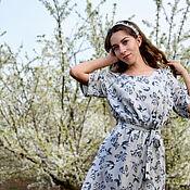 """Одежда ручной работы. Ярмарка Мастеров - ручная работа """"Ускользающая красота"""" длинное платье на лето. Handmade."""