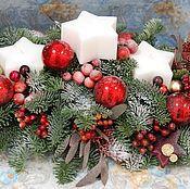 Подарки к праздникам ручной работы. Ярмарка Мастеров - ручная работа Новогодняя композиция для интерьера и в подарок. Handmade.