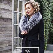 Одежда handmade. Livemaster - original item Double-breasted coat with silver Fox fur. Handmade.