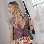 Одежда handmade. Livemaster - original item Vest felted Tiramissu. Handmade.