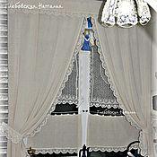 Для дома и интерьера handmade. Livemaster - original item Linen and lace for the kitchen.. Handmade.