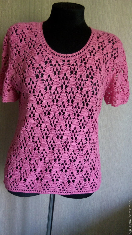 Розовая кофточка крючком, Кофты и свитера, Днепр, Фото №1