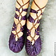 """Обувь ручной работы. Ярмарка Мастеров - ручная работа. Купить Кожаные сандалии ручной работы """"Purple Super Sexy"""". Handmade."""