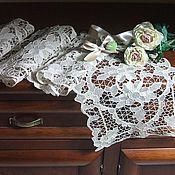 Винтаж handmade. Livemaster - original item Italian lace set of 4 napkins. Handmade.