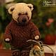 Мишка Тедди турист - авторский коллекционный медведь в одежде и обуви с рюкзаком ручной работы в единственном экземпляре (интерьерная игрушка). Автор: Ольга Архипова