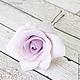 Заколки ручной работы. Набор шпилек с розами - Сиреневые (3 шт). Tanya Flower. Ярмарка Мастеров. Цветы в прическу