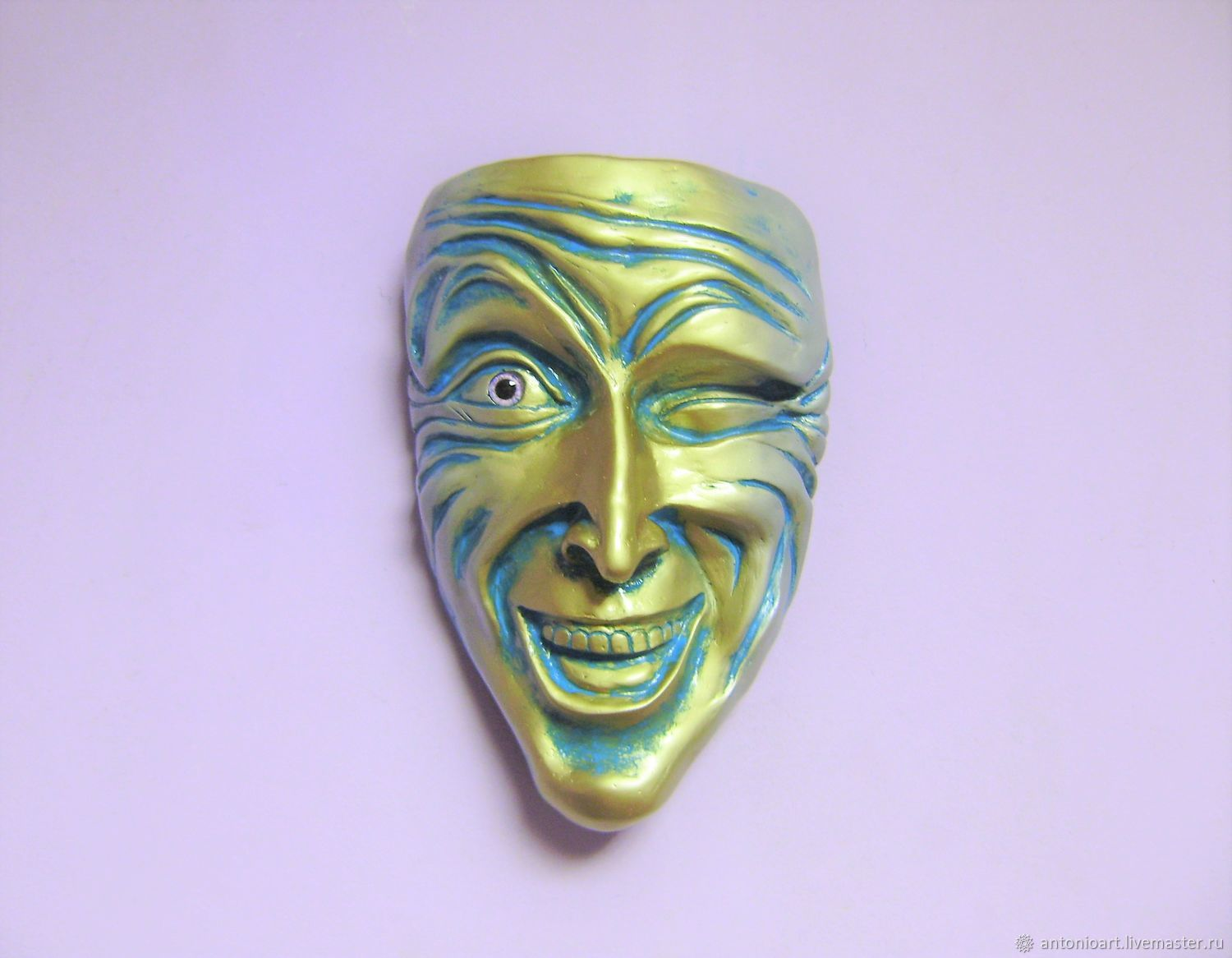 Wall mask winking Humorous wall face, Interior masks, Chelyabinsk,  Фото №1