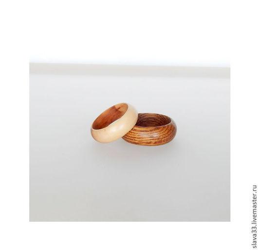 Свадебные украшения ручной работы. Ярмарка Мастеров - ручная работа. Купить Обручальные кольца из дуба и яблони.. Handmade. Из дуба