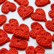 handmade. Livemaster - original item Hearts crochet small. Handmade.