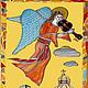 Витражная картина\r\nАнгел, играющий на скрипке\r\nТехника Тиффани + мозаика.\r\nРазмеры: 41х23 см.\r\nХудожник-витражист Екатерина Макарова