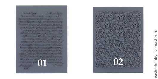 Для украшений ручной работы. Ярмарка Мастеров - ручная работа. Купить Штамп резиновый Craft&Clay. Handmade. Серый, текстурный лист