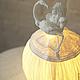 Светильник ручной работы из папье маше Алиса с фламинго. Light Dreams.