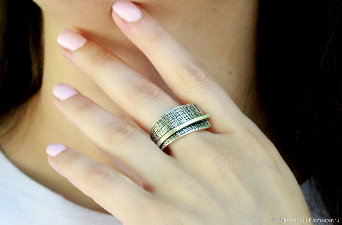 Ring 'Cage' of silver 925, Rings, Yerevan,  Фото №1