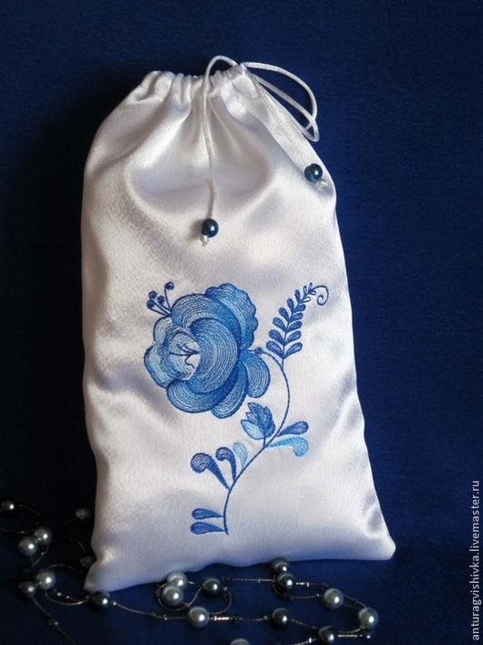 Подарочный мешочек ГЖЕЛЬ  - оригинальный подарок к Новому году, на День рождения, к 8 марта.