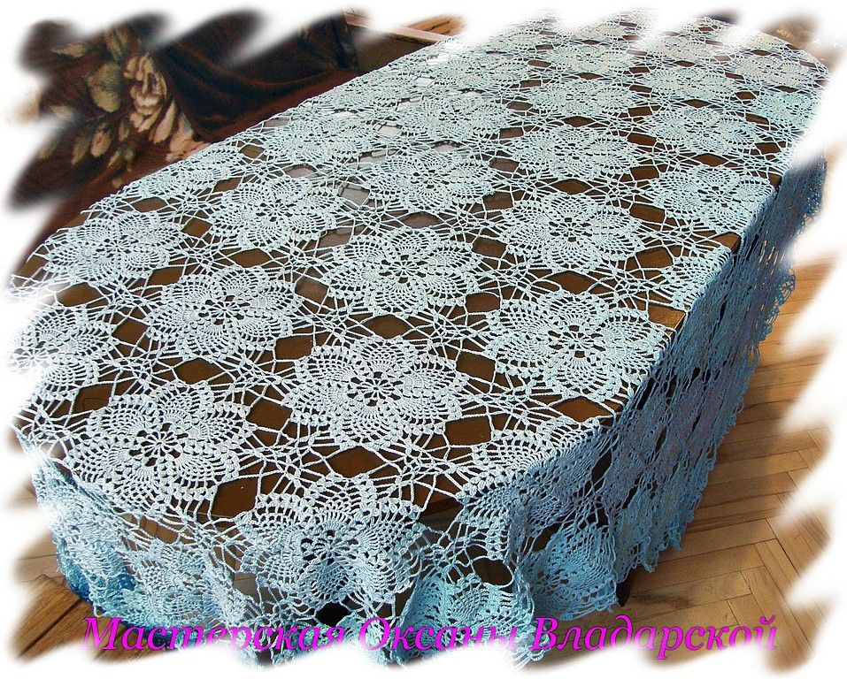 Home Textiles & Carpets handmade. Livemaster - handmade. Buy Blue tablecloth.Handmade, home, tablecloth crochet