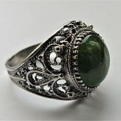 Украшения handmade. Livemaster - original item Shaheen ring-chrome diopside, 925 silver. Handmade.