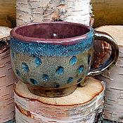 Посуда ручной работы. Ярмарка Мастеров - ручная работа Чашка керамическая раку 4. Handmade.