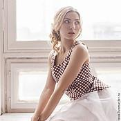 Одежда ручной работы. Ярмарка Мастеров - ручная работа топ из хлопка и фатиновая юбка. Handmade.