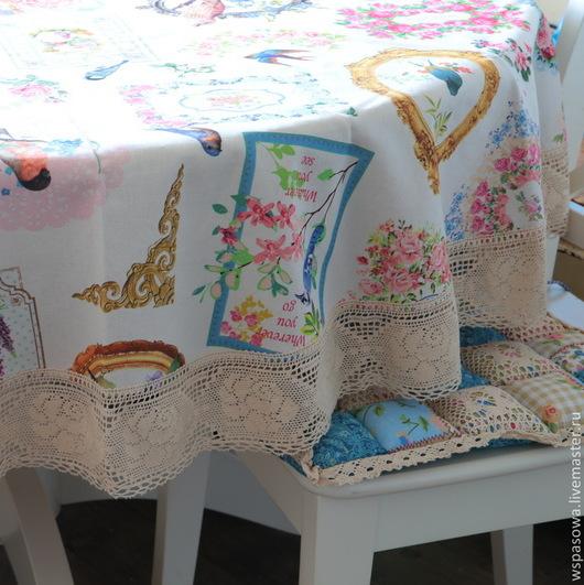 Текстиль, ковры ручной работы. Ярмарка Мастеров - ручная работа. Купить Круглая скатерть Барокко. Handmade. Бежевый, красивое кружево