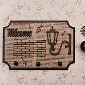 """Для дома и интерьера ручной работы. Ярмарка Мастеров - ручная работа Ключница """" Добро пожаловать домой"""". Handmade."""