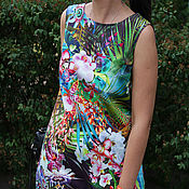 Одежда ручной работы. Ярмарка Мастеров - ручная работа Платье из хлопка мини. Handmade.
