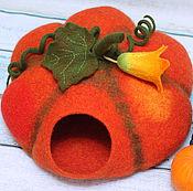 Для домашних животных, ручной работы. Ярмарка Мастеров - ручная работа Кошкин дом - Оранжевое солнце. Handmade.