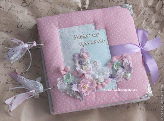 """Фотоальбомы ручной работы. Ярмарка Мастеров - ручная работа. Купить Фотоальбом """"Маленькая принцесса"""" (миниальбом). Handmade. Розовый, альбом для фотографий"""