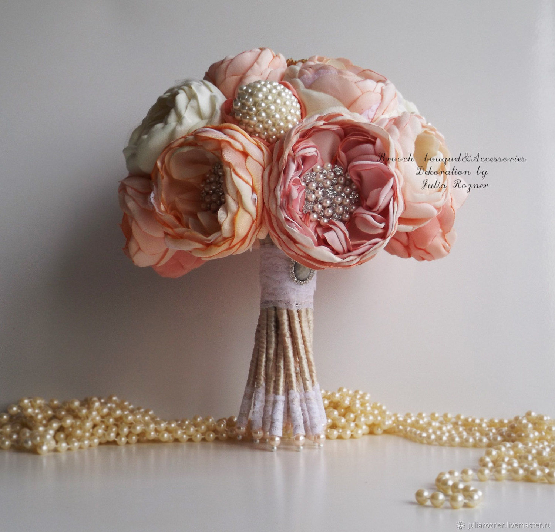 Wedding brooch bouquet peony chic bouquet of tissue shop online wedding flowers handmade livemaster handmade buy wedding brooch bouquet peony chic izmirmasajfo