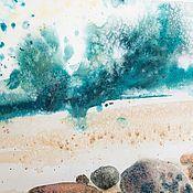 Картины и панно ручной работы. Ярмарка Мастеров - ручная работа Океан. Печать на акварельной бумаге. Handmade.