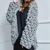 Одежда handmade. Livemaster - original item Cardigan knit grey. Handmade.
