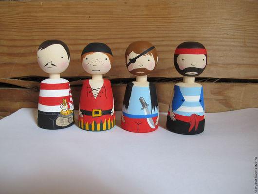 Развивающие игрушки ручной работы. Ярмарка Мастеров - ручная работа. Купить набор пиратов. Handmade. Ролевые игры, театр