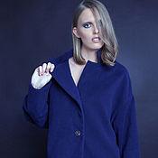 Одежда ручной работы. Ярмарка Мастеров - ручная работа SS2017 Темно-синее пальто-кокон. Handmade.