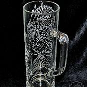 Посуда handmade. Livemaster - original item Dragon. High beer mug. Handmade.