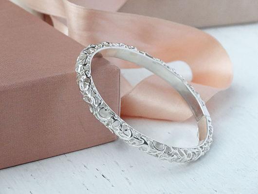 Браслеты ручной работы. Ярмарка Мастеров - ручная работа. Купить Ажурный браслет из серебра. Handmade. Серебряный, красивый браслет, кружево