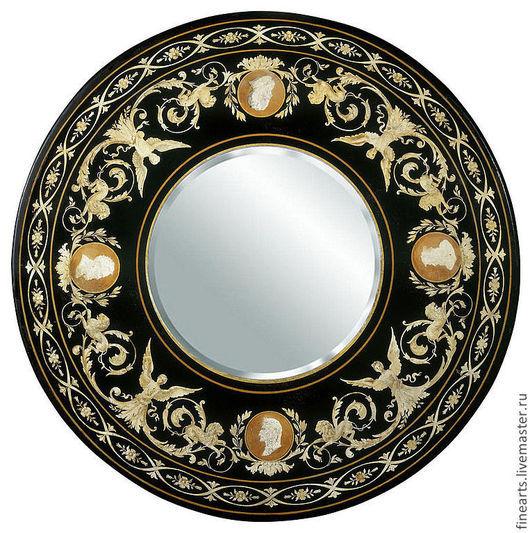 Зеркала ручной работы. Ярмарка Мастеров - ручная работа. Купить зеркало в раме Etrya. Handmade. Круглое зеркало, зеркало в раме