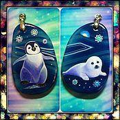 Украшения handmade. Livemaster - original item The kids on the ice Earring Bilateral pendant. Handmade.