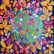 Картины и панно handmade. Livemaster - original item Embroidery .Summer.. Handmade.
