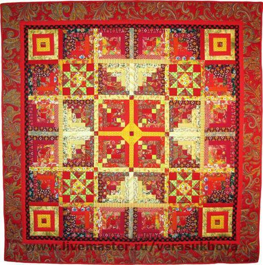 """Текстиль, ковры ручной работы. Ярмарка Мастеров - ручная работа. Купить Одеяло """"Былинное"""" 200х200см. Handmade. Лоскутное одеяло"""