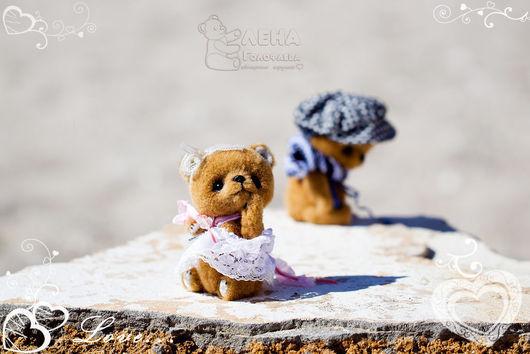 Мишки Тедди ручной работы. Ярмарка Мастеров - ручная работа. Купить Барышня и Хулиган. Handmade. Мишки, коллекционные игрушки
