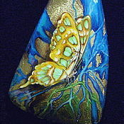 Украшения ручной работы. Ярмарка Мастеров - ручная работа кулон Бабочка. Handmade.